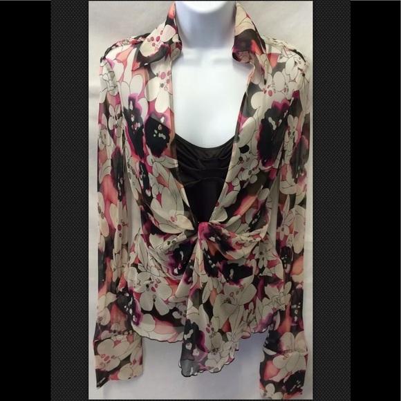 54fecfb1147f6d Diane Von Furstenberg Tops | Silk Cami Knotted Floral | Poshmark